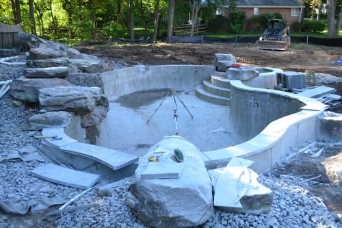 Swimming pool construction company for Inground swimming pool contractors