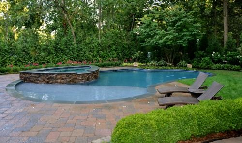 Residential Pool Designs south carolina pool designer Beautiful Backyard Swimming Pool Spa Design Bergen County New Jersey