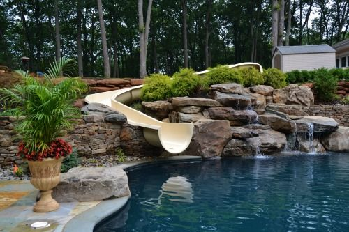 Residential Pools With Slides millstone, new jersey