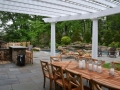 Wyckoff Pool and Outdoor Kitchen Area