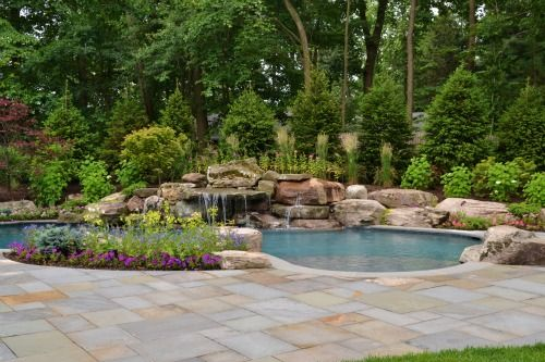 Nj pool landscape design for Pool design inc bordentown nj