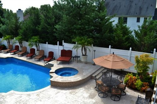 Custom pool patio for Pool design inc bordentown nj
