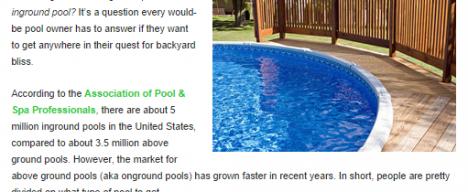 Pool online publication feature