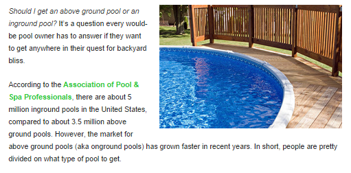 Pool online publication feature
