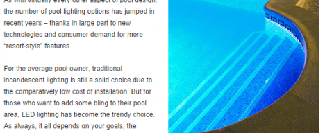 Inground pool with lighting online publication feature