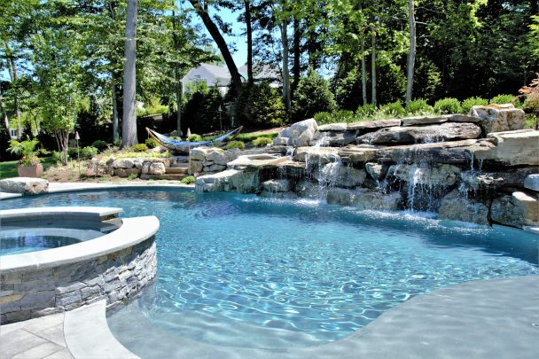 Custom Swimming Pool Water Features in NJ and NY