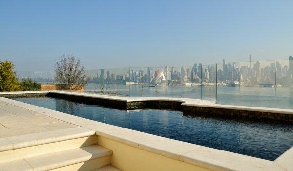 Modern inground pool design