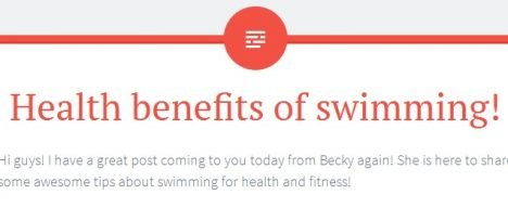 Health Benefits of Swimming online publication feature