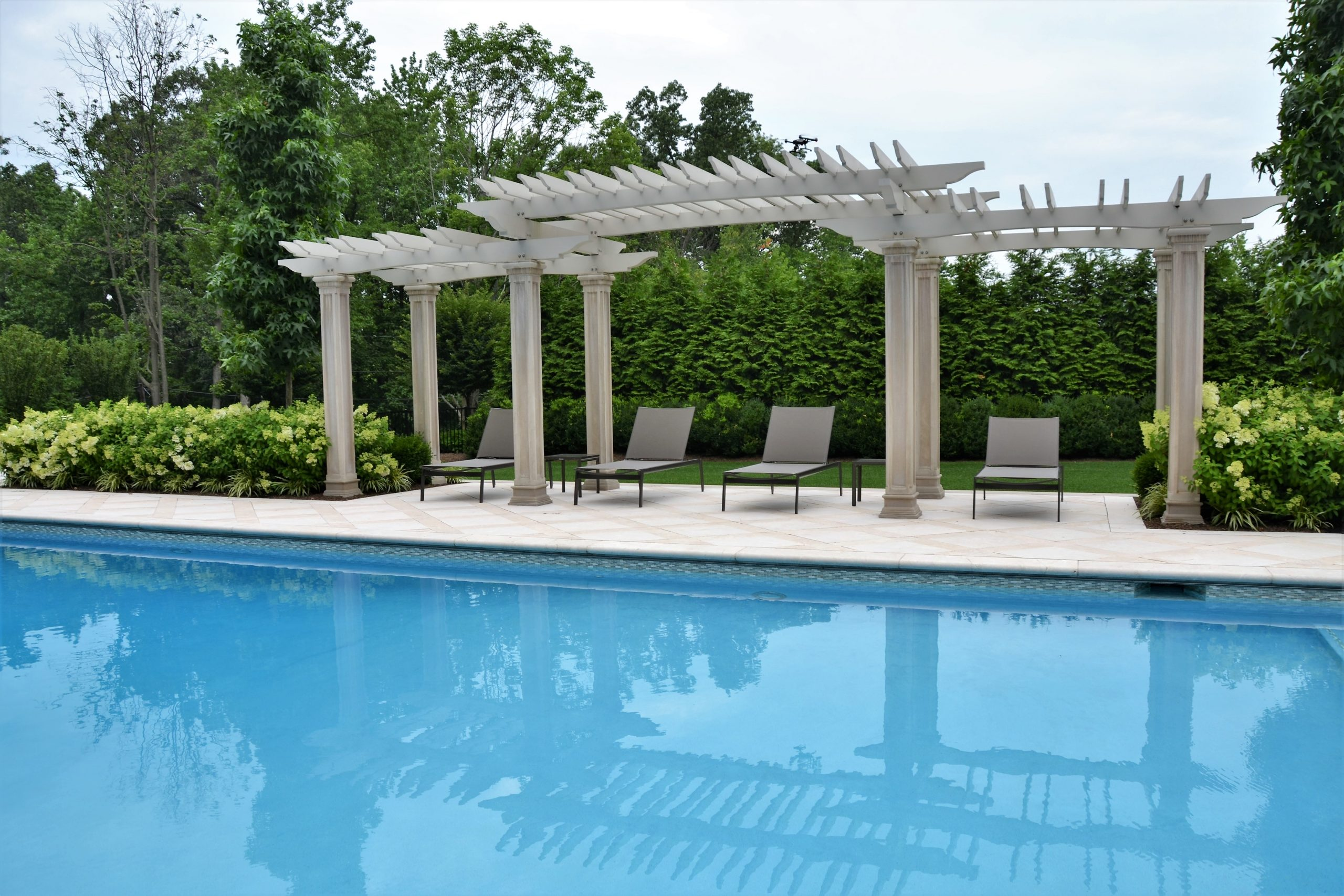 Luxury Pools with pergola