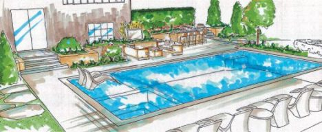 Inground Swimming Pool Designs sketch
