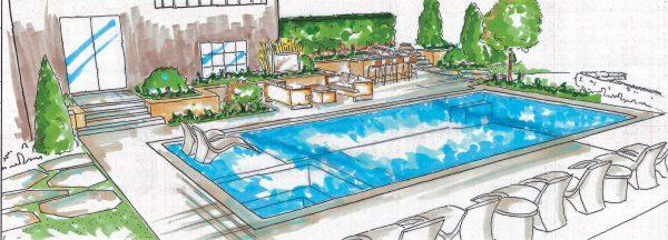 Inground Swimming Pool Designs sketch