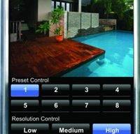 mobile phone showing custom pool